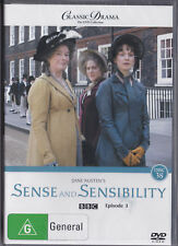 Classic Drama BBC DVD SENSE AND SENSIBILITY EPISODES 3  2+4 PAL NEW