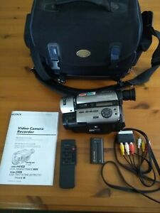 SONY HANDYCAM CCD-TR840E  Camcorder. Case, instructions + more but NO CHARGER.