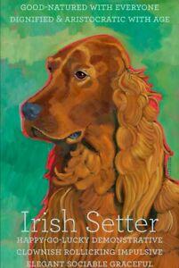 Irish Setter - Dog Portrait - Fridge Magnet - Reproduction Oil Painting