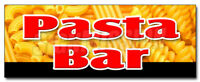 PASTA BAR DECAL sticker dressing salad pasta noodles vegetables tomato