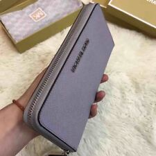 Genuine Michael Kors Saffiano Leather Jet Set Travel Purse grey  Wallet sales..