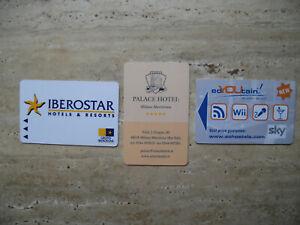 Drei gebrauchte Schlüsselkarten / Hotelkarten - nicht mehr nutzbar