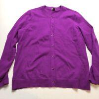 Eddie Bauer Sz XL Purple Cardigan Sweater A1314