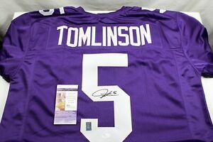 LaDAINIAN TOMLINSON Signed Custom TCU Purple Jersey JSA COA  Chargers