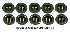 10 PACK SPEAKER BOX TERMINAL ROUND SPRING CUP CONNECTOR SUBWOOFER ENCLOSURE