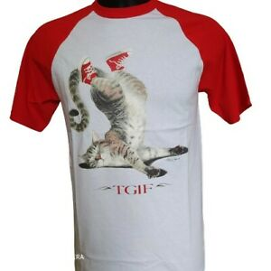 t-shirt homme chat tête a l'envers