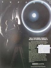9/1989 PUB TEXTRON LYCOMING ALF 502 TURBOFAN BAE 146 ORIGINAL AD