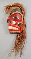 Original Joseph Lance Squamish NORTHWEST COAST Carved & Painted Totem Sculpture