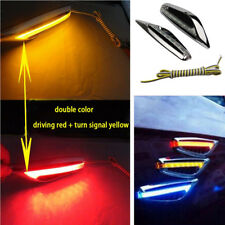 2x Car Side Door Blade Bright LED Turn Signal Driving Lights Lamp Dual Color 12V