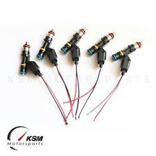 Set 5 550cc fuel injectors FORD FOCUS MK2 2.5T RS ST BOSCH EV14 High Impedance