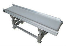 "TECHTONGDA 110V 59""*11.8"" Baffle PU Belt Conveyor with Double Guardrail"