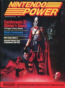 1988 Nintendo Power Magazine Issue #2 NES Castlevania II with Poster Nice RARE