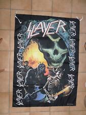 SLAYER drapeau 100 % polyester format environ 98 cm X 135 cm TETE DE MORT