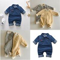 Baby Boys Girls Romper Jumpsuit Pocket Cotton Clothes Outfits Bodysuit Unisex