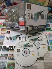 Playstation PS1:Final Fantasy VII 7 [TOP RPG & 1ERE EDITION] COMPLET - Fr