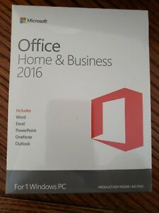 Microsoft Office Home and Business 2016 Product Key Card - 1 PC - FACTORY SEALED
