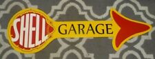 Shell Garage Arrow Sign Heavy Metal Large Man Cave Garage Home Office Decor