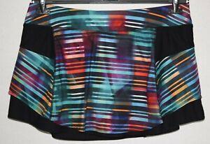 Athleta Multicolor Black Elastic Waist Drawstring Skort Size XL