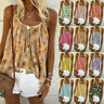 Womens Swing Vest Sleeveless Cami Top Ladies Strappy Flared Tops Shirt Plus Size
