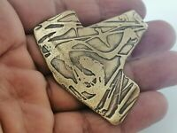 Very Stunning Rare Extremely Ancient Amulet Viking Bronze Authentic Artifact