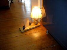 ART DECO LAMPE VEILLEUSE PORTE PHOTO REGULE DEUX OISILLONS SUR MARBRE