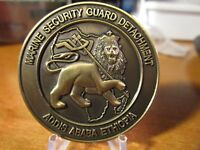 USMC MSG Marine Security Guard Detachment Addis Ababa Ethiopia Challenge Coin