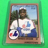 1988 Marquis Grissom Signed Rookie Card Minor League Team Jamestown Expos. A1