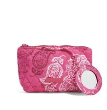 Vera Bradley Mirror Cosmetic Case Stamped Paisley