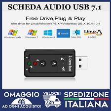 Scheda Audio Usb 7.1 Canali Esterna 3d Souno Adattatore Pc Notebook Card 🇮🇹