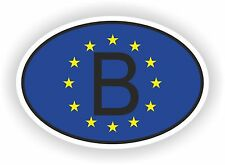 B BELGIQUE sticker OVAL drapeau UNION EUROPEEN Voiture moto Caravane coffre