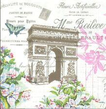 Lot de 2 Serviettes en papier Arc de Triomphe Decoupage Collage Decopatch