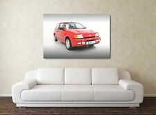 Ford Fiesta RS Turbo - 30x20 Inch Canvas Art Framed Picture Print