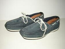 TIMBERLAND Earthkeepers Blue Leather Suede Boat Shoes SZ Mens 11.5 Mocs