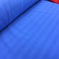 Royal Blue Boucle Texture Striped Fleece Brushed Back Fabric 150cm