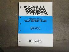 Kubota SX700 SX 700 Rotary Tiller repair & service manual