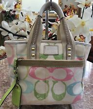 Coach M05M-201 Hamptons Scribble Signature Satchel Handbag Purse