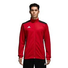adidas Boys REGISTA 18 PES Long Sleeve Jacket Zip Top Football Size S M L XL XXL 11-12 Years Power Red / Black
