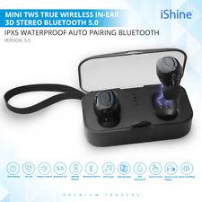 5.0V Mini TWS Twins True Wireless Bluetooth In-Ear Earphones Headset Earbuds UK