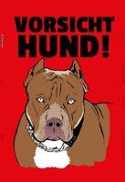 Vorsicht Hund ! Blechschild Schild gewölbt Metal Tin Sign 20 x 30 cm