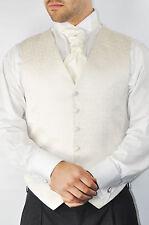 Men's Wedding Formal Pure White  Scroll Waistcoat Brand New All Sizes