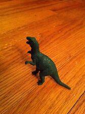 vintage dinosaur toy Dark Green Lizard Realistic color detail RARE T-Rex Unknown