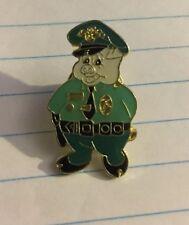 POLICE OFFICER CHUBBY PORKY PIG-LIKE COP METAL/ENAMEL LAPEL NOVELTY PIN
