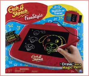 Etch A Sketch Freestyle Drawing Pad + Stylus & Stampers Sketch or Trace  🌟NEW🌟