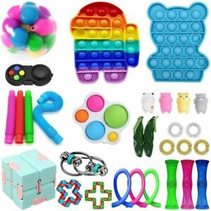 50Pack Fidget Toys Set Sensory Tools Bundle Stress Relief Hand Kids Adults Toy