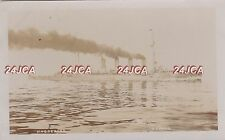 """Imperial German Navy RPPC. SMS """"Magdeburg"""" Light Cruiser. Captured WW1. 1912"""