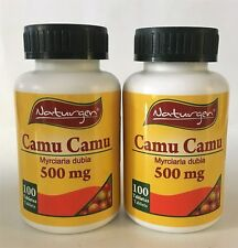 2 CAMU CAMU 500 MG 100% NATURAL (100 CAPSULES X BOTTLE)