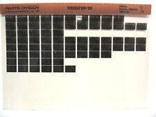 Honda NX650 1988 1989 Parts List Catalog Microfiche a895