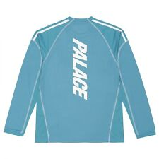 Palace x Adidas LSL Long Sleeve Tee Size Medium M New Blanch Blue