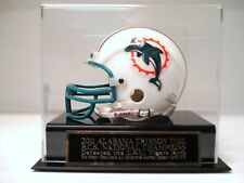 Display Case For Your 2011 Crimson Tide Champs Autographed Football Mini Helmet