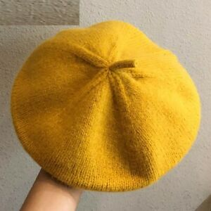 Women's Winter Knitted Berets Retro Solid Colors Painter Fall Warm Indoor Hats